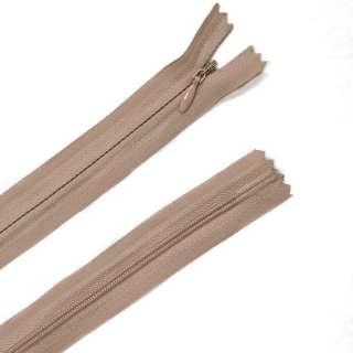 блискавка потайна М-24 Тип-3 нероз'ємна х / б молоч-шоколад з розов