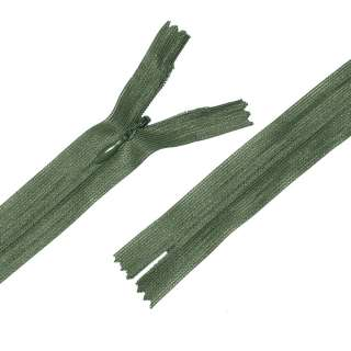 блискавка потайна М-24 Тип-3 нероз'ємна нейлон зелено-болотна
