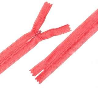блискавка потайна М-24 Тип-3 нероз'ємна нейлон рожево-помаранчева