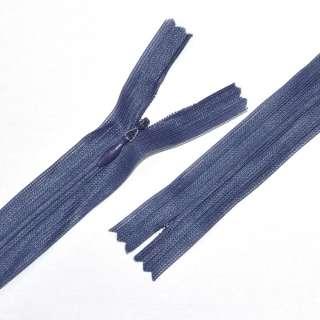 блискавка потайна М-24 Тип-3 нероз'ємна нейлон сіро-синя