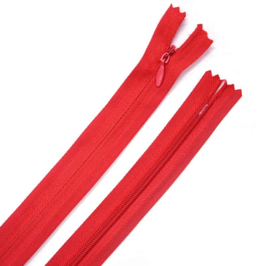 молния потайная, 50 см, красная