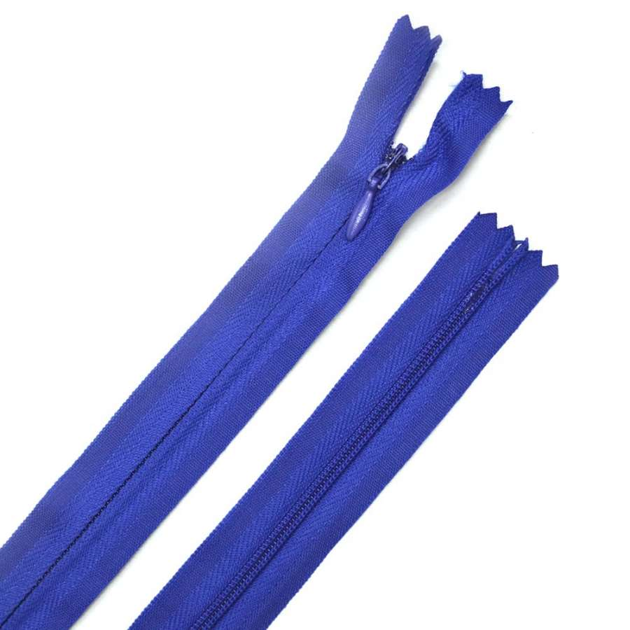 молния потайная, 50 см, синяя