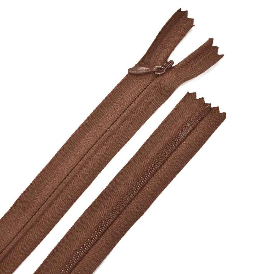 Молния потайная М-50 Тип-3 неразъемная х/б коричневая