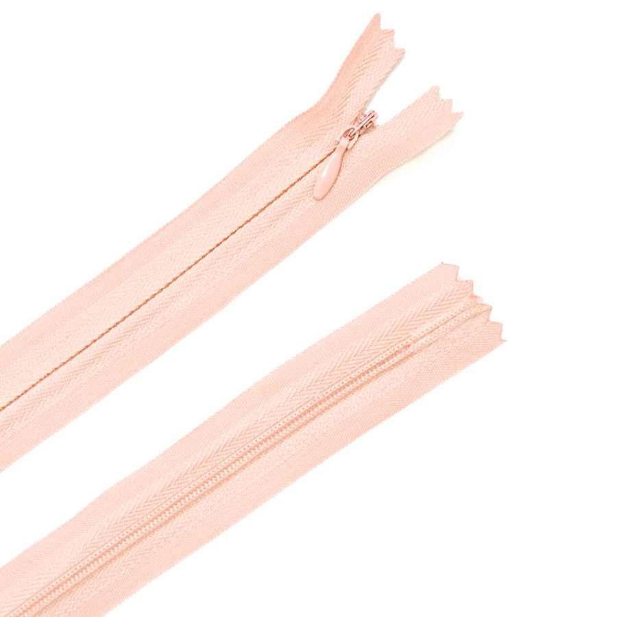 молния потайная, 50 см, розовая (пудра)