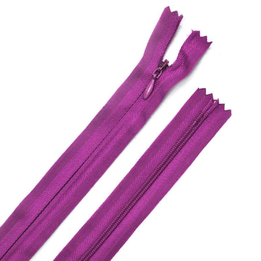 молния потайная, 50 см, фиолетовая