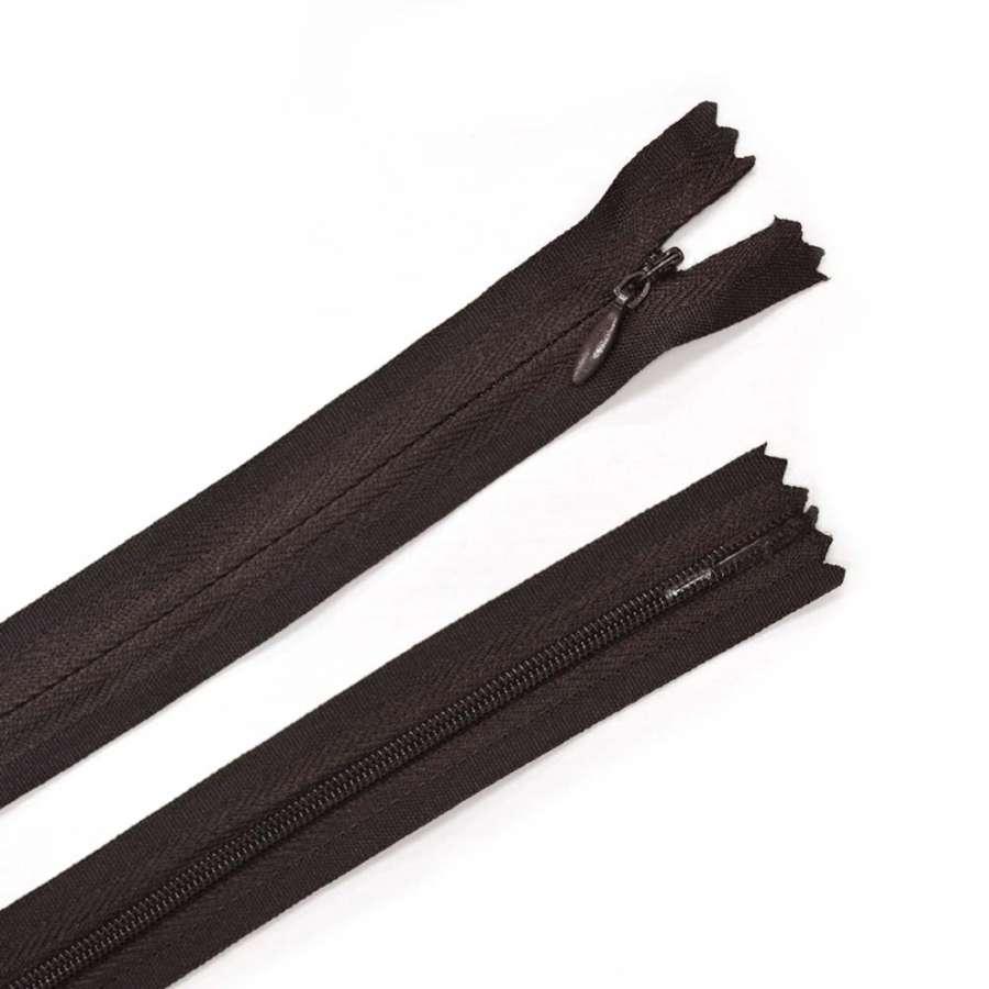 молния потайная, 50 см, коричневая темная