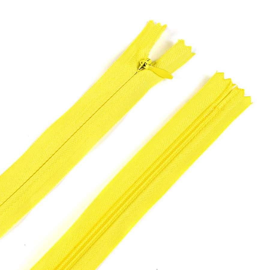 молния потайная, 50 см, лимонная светлая