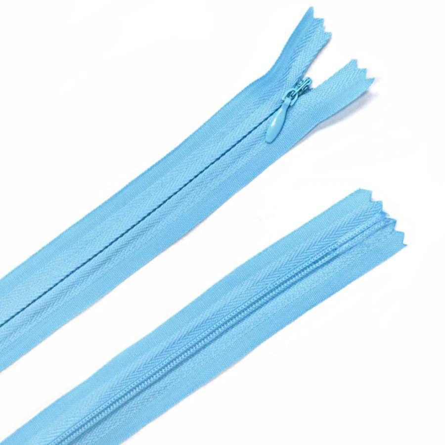 молния потайная, 50 см, голубая