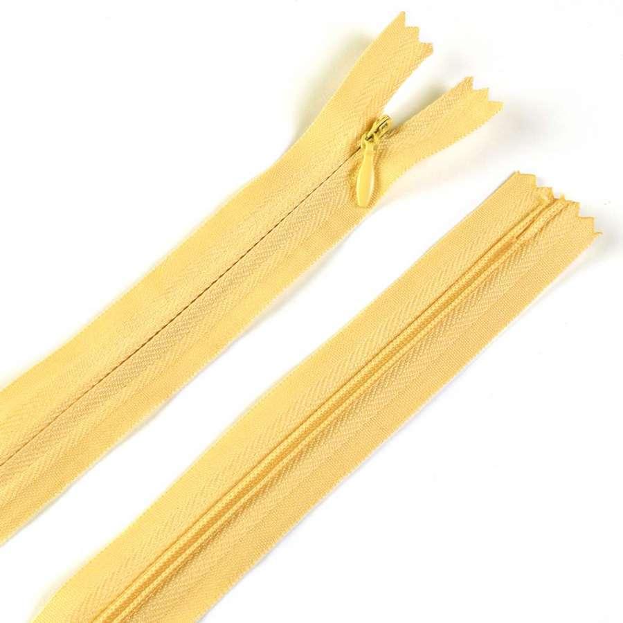 молния потайная, 50 см, желтая (ваниль)