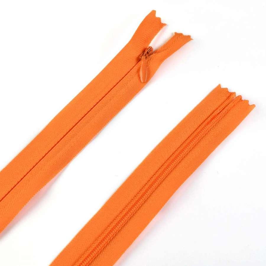 молния потайная, 50 см, оранжевая