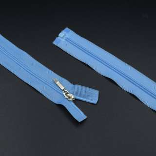 Молния спиральная М-60 разъемная 1 бегунок голубая нейлон