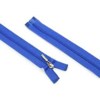 Молния спиральная М-60 разъемная 1 бегунок синяя нейлон