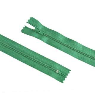 молния спиральная М-20 Тип-3 неразъемная х/б темно-зеленая