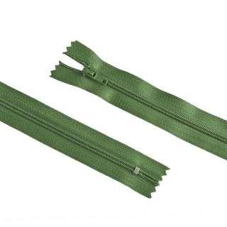 молния спиральная М-20 Тип-3 неразъемная х/б хаки с темн. зел. оттенком
