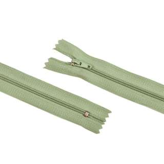 молния спиральная М-20 Тип-3 неразъемная х/б серо-бирюз.-зеленая