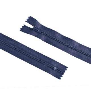 молния спиральная М-20 Тип-3 неразъемная х/б синяя