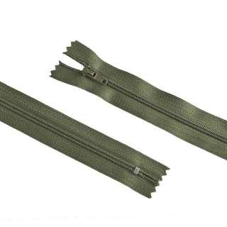 молния спиральная М-20 Тип-3 неразъемная х/б темно-болотно-зеленая