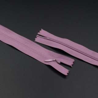 Блискавка потайна М-20 Тип-3 нероз'ємна бавовняна брудно-рожева