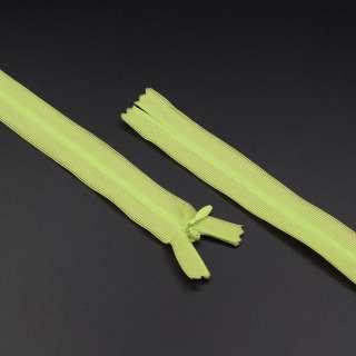 Молния спиральная М-20 Тип-3 неразъемная нейлон салатовая с зеленым