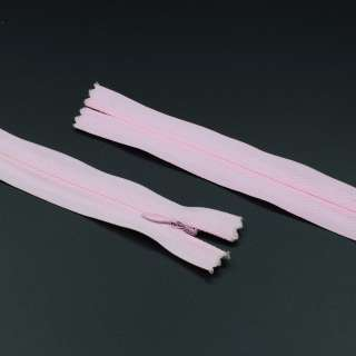 Блискавка потайна М-20 Тип-3 нероз'ємна бавовняна яскраво-рожева
