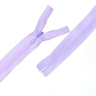 Молния потайная М-25 Тип-3 неразъемная нейлон фиолетовая светлая