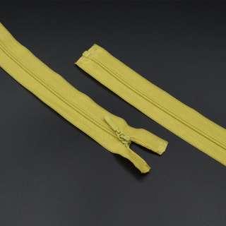 молния спиральная М-60 Тип-3 разъемная 1 бегунок нейлон светло-салат.-оливк