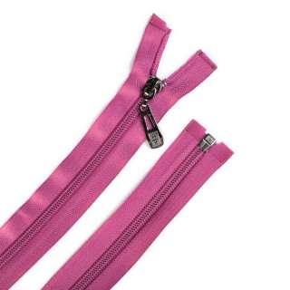 Молния спиральная, 70см, тип 5, разъемная розовая темная