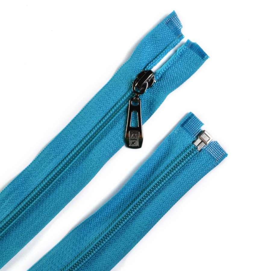 Молния спиральная М-70 Тип-5 разъемная х/б голубая темная