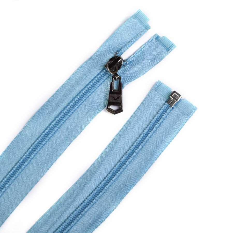 Молния спиральная, 70см, тип 5, разъемная голубая светлая