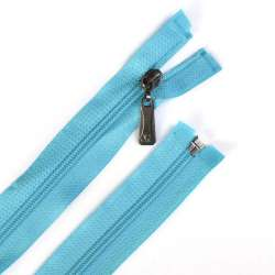 Молния спиральная, 70см, тип 5, разъемная голубая
