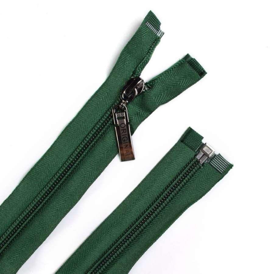 Молния спиральная, 70см, тип 5, разъемная зеленая темная