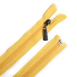 Молния спиральная, 70см, тип 5, разъемная желтая светлая