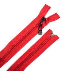 Молния спиральная, 70см, тип 5, разъемная красная