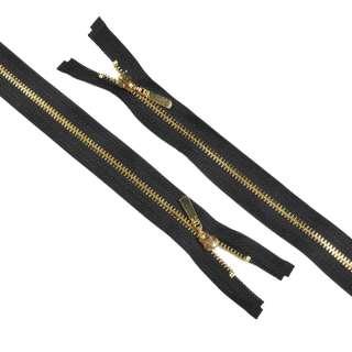 блискавка метал М-75 роз'ємна Тип 5 чорна золото