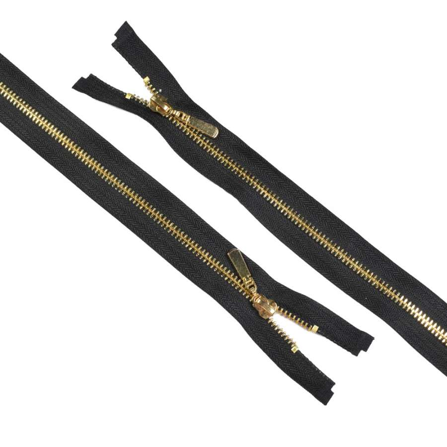 молния металл М-75 разъемная Тип 5 черная золото