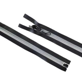 молния спиральная М-80 №7 черная светоотражающая
