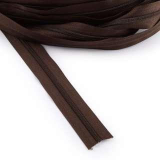 Молния рулонная спиральная Т-3 (за метр) коричневая