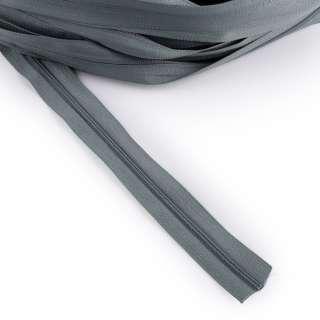 Молния рулонная спиральная Т-3 (за метр) серо-голубая