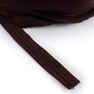 Молния рулонная спиральная Т-5 (за метр) коричнево-бордовая
