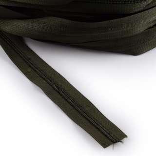 Молния рулонная спиральная Т-5 (за метр) зеленая темная