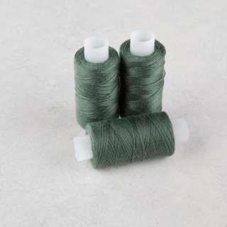 Нитки для джинсов 20/3 Омега-36 (150м) цвет 411 зеленые хвойные