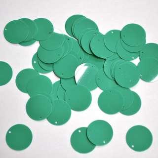 пайетки зеленые круглые большие матовые, 25 г