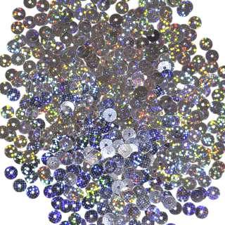 пайетка сине-стальная голограмма 0,5см, 25г
