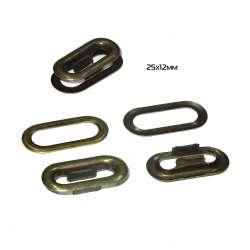 Пистоны металл 25х12мм антик