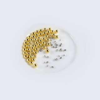 Перли з заклепкою 6мм (50шт / уп) золото