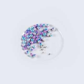 Перли з заклепкою 6мм (50шт / уп) фіолетово-блакитний