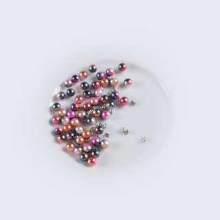 Перли з заклепкою 6мм (50шт / уп) рожево-синій