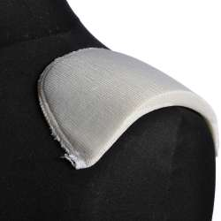 Плечевые накладки поролон обшитые трикотажем 11х100х170 белые