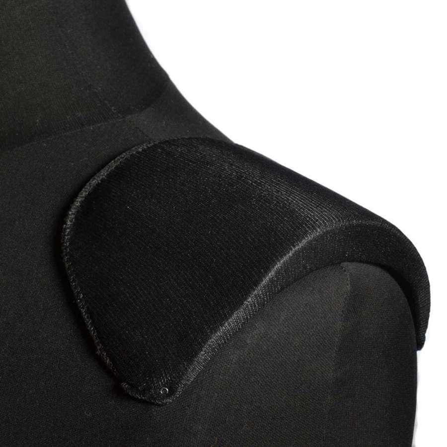 плечевые накладки черные поролон обтянутый трикотажем 18*106*185