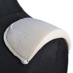 Плечевые накладки поролон обшитые трикотажем 19х103х175 белые